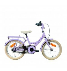 "BIKE FUN FIETS 16"" MEISJES LOTS OF LOVE MAT LILA 16LOT40 ***BESTELBAAR***"