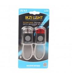 LED LICHTSET IKZI VOOR - ACHTER MINI ZWART SILICONEN UITVOERING
