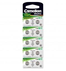 BATTERIJ CAMELION LR44/V13GA 1.5 VOLT ALKALINE KNOOP BLISTER A10