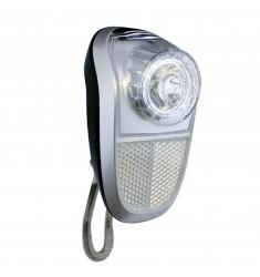 LED VOORLICHT KOPLAMP UNION MOBILE 1 LED MOD. GALAXI 4965 NAAFDYN. ZWART/ZILVER