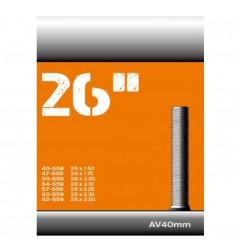 BINNENBANDEN 26X1.50-1.75-2.50 CST SCHRADER (AUTO) VENTIEL 40MM = 40/62-559 AV 40MM 071301