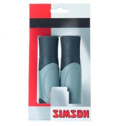 SIMSON BLISTER 020450 HANDVATTEN ERGO SHIFT ZWART/GRIJS