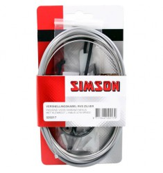 SIMSON BLISTER 020217 VERSNELLNGSKABELSET COMPLEET SHIMANO NEXUS 4/7/8 GRIJS RVS