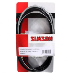 SIMSON BLISTER 020225 VERSNELLINGSKABELSET COMPLEET SRAM/SACHS 3V ZWART