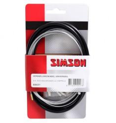 SIMSON BLISTER 020227 VERSNELLINGSKABELSET COMPLEET SA/GAZELLE ZWART