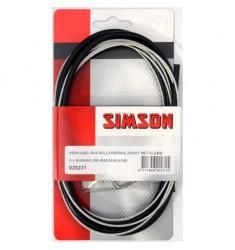 SIMSON BLISTER 020231 REMKABELSET COMPLEET RVS SHIMANO ROLLERBRAKE ZWART