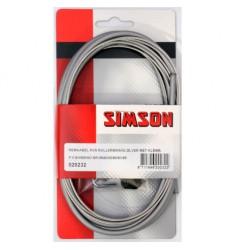 SIMSON BLISTER 020232 REMKABELSET COMPLEET RVS SHIMANO ROLLERBRAKE GRIJS