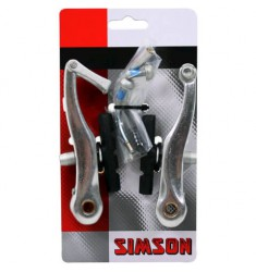 SIMSON BLISTER 021807 V-BRAKE REMMENSET GESCHIKT ALS VOOR- EN ACHTERREM