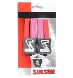 SIMSON BLISTER 021349 SNELBINDER KORT, 3 BINDER, ROZE/ROOD