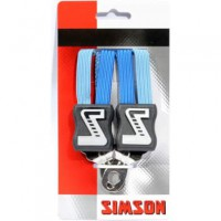 SIMSON BLISTER 021350 SNELBINDER KORT, 3 BINDER, KOBALT BLAUW
