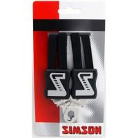 SIMSON BLISTER 021353 SNELBINDER KORT, 3 BINDER, ZWART
