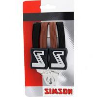 SIMSON BLISTER 021354 SNELBINDER EXTRA STERK, 4 BINDER, ZWART/BRUIN