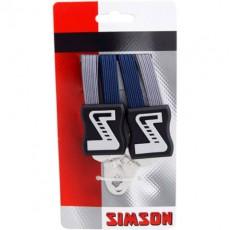 SIMSON BLISTER 021356 SNELBINDER EXTRA STERK, 4 BINDER, MARINE/GRIJS