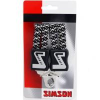 SIMSON BLISTER 021357 SNELBINDER EXTRA LANG, 4 BINDER, ZWART/WIT