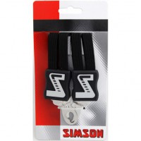 SIMSON BLISTER 021358 SNELBINDER EXTRA LANG, 4 BINDER, ZWART