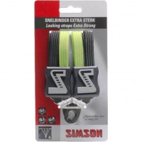 SIMSON BLISTER 021370 SNELBINDER EXTRA STERK, 4 BINDER, ZWART/GROEN