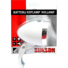 SIMSON BLISTER 020772 BATTERIJ VOORVORK KOPLAMP HOLLAND 3 LED WIT