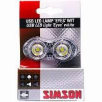 SIMSON BLISTER 022001 USB LED LAMP 'EYES' WIT, 7 LUMEN