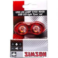 SIMSON BLISTER 022002 USB LED LAMP 'EYES' ROOD, 3 LUMEN